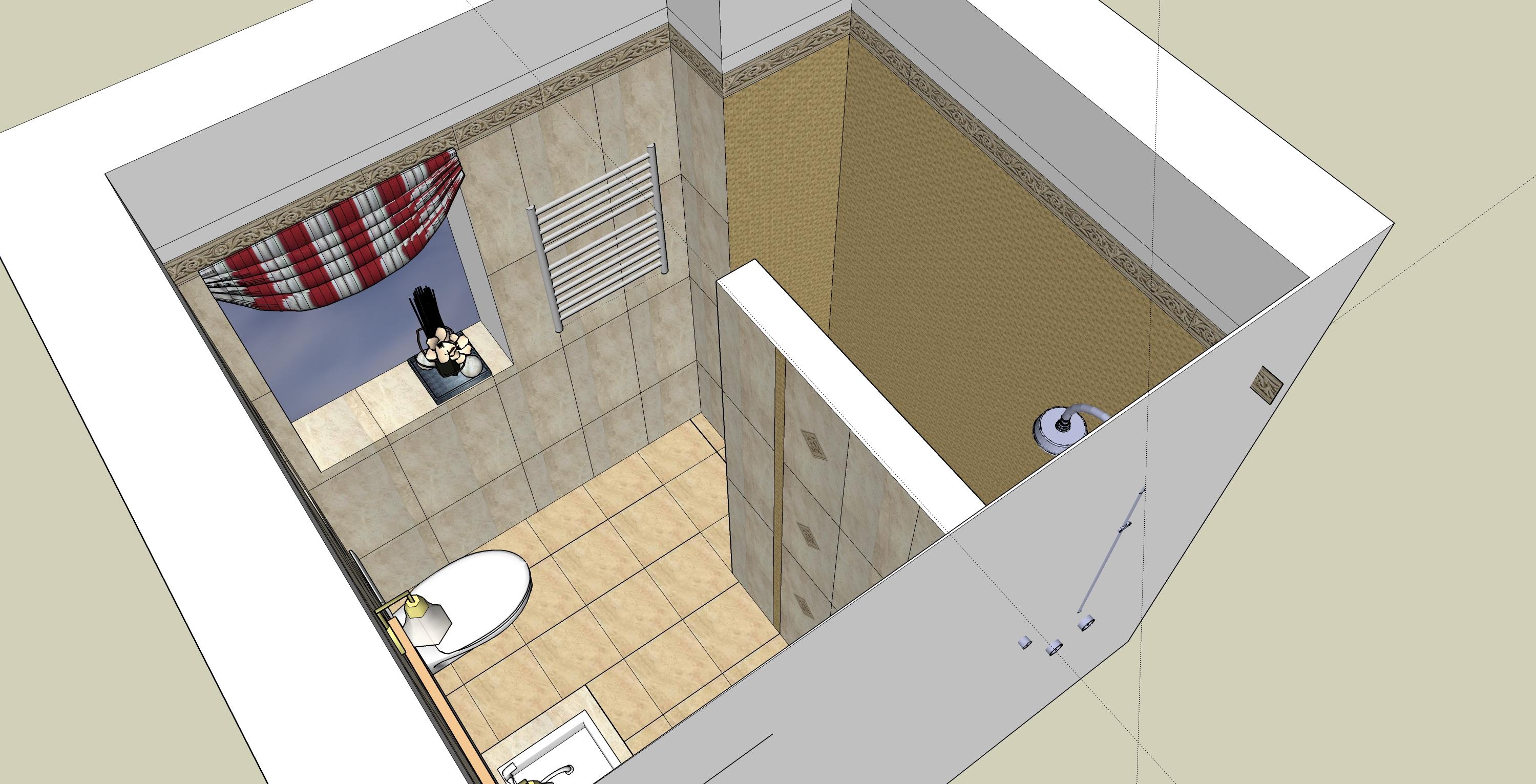 łazienka sketchUp-perspektywa2